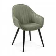 Kave Home Cadeira Herbert verde , en Tecido - Verde