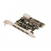 "Card PCI-Express adaptor la 4 x USB 3.0, VIA, Logilink ""PC0057A"""