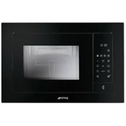 Smeg FME120NA Linea Built In Microwave Oven With Grill - Black