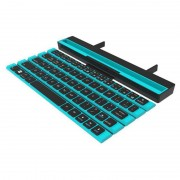 Folding Bluetooth Keyboard 64 Keys Wireless Keypad for iPad Tablet Phones - Blue