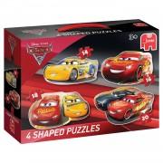 Jumbo Disney Cars 3 4-in-1 vormpuzzel - 14 + 16 + 18 + 20 stukjes