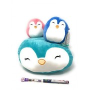 Bundle of 4 Includes a 12 inch Plush Penguin Squishmallows and Two 5 inch Penguins and a Scented Pencil