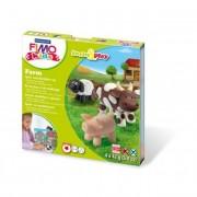 Gyurma készlet, 4x42 g, égethető, FIMO Kids Form & Play, farm