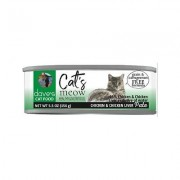 Dave's Pet Food Cat's Meow 95% Chicken & Chicken Liver Canned Cat Food, 5.5-oz, case of 24