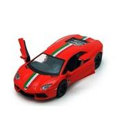 Kinsmart Licensed 5'' Lamborghini Aventador LP 700-4 Die Cast Car (Orange) - Toyville