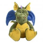 Geen Pluche knuffel draak blauwe vleugels 34 cm
