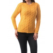 Pulover damaweave culoare galben mustar Marime Universala (S/M)