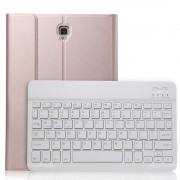 Detachable Bluetooth Keyboard PU Leather Cover Shell with Stand for Samsung Galaxy Tab A 10.5 (2018) T590 T595 - Rose Gold