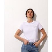ETAM T-shirt met romance-borduursel - L - WIT - Etam