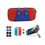 Nintendo Switch Estuche Viajero + Funda + Mica + Grips - Mario
