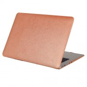 For Macbook Pro 15.4 inch Silk Texture Apple Laptop PC Protective Case(Coffee)