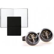 Set Butoni Tourbillon Luxury Black Carbon si Note pad Black Hugo Boss