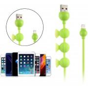 Louiwill USB Cable De Datos,niceEshop(TM)1.5m Creativo Pulpo Adsorción Silicona USB Cargador Cable De Datos De Sincronización Cable Para Teléfono Android,Azul