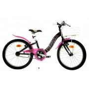Bicicleta pentru fetite Barbie, cosulet pentru cumparaturi, 7 ani+
