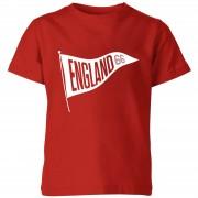 Football Camiseta Fútbol Inglaterra Banderín England 66 - Niño - Rojo - 9-10 años - Rojo