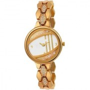 Lava Creation Gold-moving-stone-dial For Women ( New Update-220 )