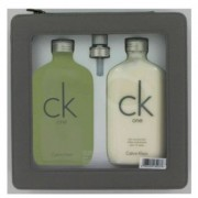Calvin Klein Ck One 6.7 oz / 198.14 mL Eau De Toilette Spray + 8.5 oz / 251.35 mL Body Lotion Gift Set Men's Fragrance 422027