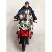 Shribossji Captain America Civil War Musical Motor Bike With Sound BumpGo Flashing Lights Toy For Kids (Multicolor)