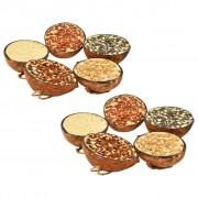 vidaXL Храна за птици в кокосови половинки, 10 бр, 290 г