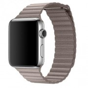 Apple 42mm Smoke Grey Leather Loop - Medium