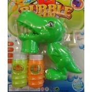 Tekerős buborékfújó pisztoly Dino 2db flakon - 6011