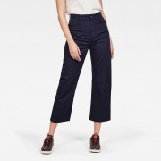 G-Star RAW Dames Tedie Ultra High Straight Ripped Edge Ankle Broek Donkerblauw - 32 31 30 29 28 27 26 25 24