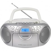 Sistem audio blaupunkt Radio portabil Blaupunkt Boombox BB16WH, CD / MP3 / USB, caseta, afisaj LCD, Alb/ Argintiu