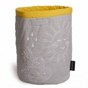 Roommate - Korg - Quilted Basket - Large Grey