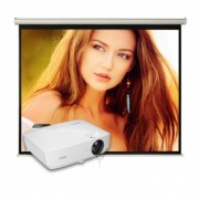 Pachet Educational cu Video Proiector BenQ MS531 si Ecran manual Blackmount 160cm x 120cm