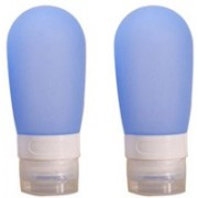 Perfect Pricee Pack of 2, 60 ml Empty Silicone Travel Refillable Soft Tube/Squeezable Container / Travel Toiletry Kit(Blue)