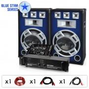 "Electronic-Star DJ PA комплект Blue Star Series ""Beatmix"", 1600 W (BS-Bassmix)"