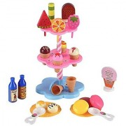 Liberty Imports Sweet Treats Ice Cream and Desserts Tower - Play Food Toy Set for Kids