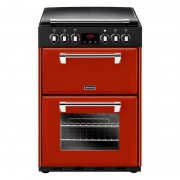 Stoves 600E Jal Ceramic Electric Cooker with Double Oven - Red
