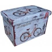 Tárolós ülőke 48 X 32 cm London kerékpár