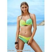 Läckert bikini-set med överlappande effekt