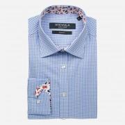 STEVULA Kockovaná pánska košeľa s kontrastom, Slim fit Veľkosť: XXL 45/46