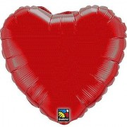 Ruby Red Heart Mini Balloon (1 ct) (1 per package)