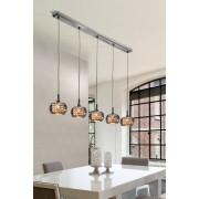 Luminaire Suspension Design Aria Ligne 5 Lampes