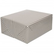 Merkloos Inpakpapier/cadeaupapier streepjes 200 x 70 cm zwart/wit