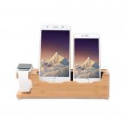 Suport birou Bambus 2 Iphone si Apple Watch D8