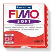 Gyurma, 56 g, égethető, Fimo Soft, indián piros (FM802024)
