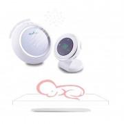 Nuvita Starry 3015 Set interfon bebelusi cu proiector de noapte plus placa wireless cu senzor respira