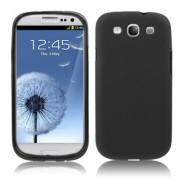 Coque en plastique flexible pour Samsung Galaxy SIII / i9300 - Noir