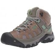 KEEN Women's Targhee Vent Mid Hiking Boot Fumo/Quiet Green 11 M US