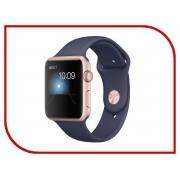 Умные часы APPLE Watch Series 2 42mm Pink Gold with Dark Blue Band MNPL2RU/A