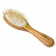 Hydrea London Spazzola antistatica per capelli in legno di ulivo