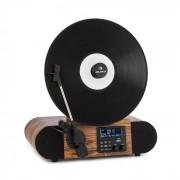 Auna Verticalo SE DAB, gramofon retro, DAB+, tuner FM, USB, BT, AUX, lemn (TTS6_VerticaloSE DAB)