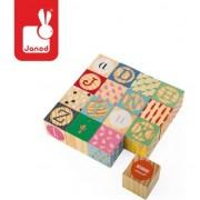 Kubix blocuri de lemn - 16 buc alfabet