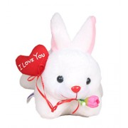 Tickles Romantic Rabbit With I LOVE YOU Balloon Animal & Figures Gift (26 cm_White)