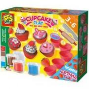 Детски комплект с пластелин - Мини кексчета, SES, 080758